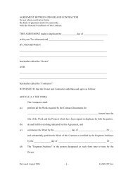 AGREEMENT BETWEEN OWNER AND CONTRACTOR for use ...