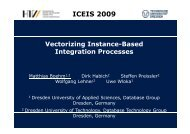 ICEIS 2009 Vectorizing Instance-Based Integration Processes
