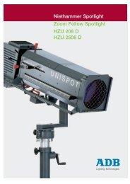 Niethammer Spotlight Zoom Follow Spotlight HZU 208 D HZU 2508 D