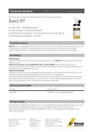Bakit RT - Kiesel Bauchemie GmbH & Co.KG