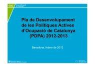 Presentació Pla de Politiques Actives - Premsa