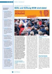 BZAL und Stiftung BSW sind dabei - Aktionswoche Alkohol