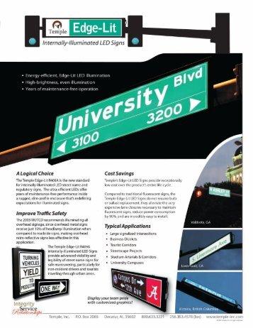 TEMPLE Edge-Lit LED Sign - Interprovincial Traffic Services