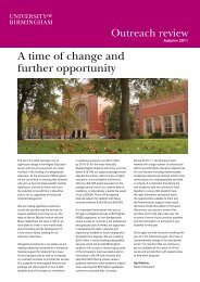 Outreach Review - University of Birmingham