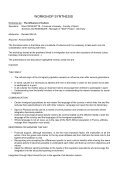 WORKSHOP SYNTHESIS - EWS European Women and Sport - Page 5