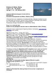 Rettelse pr 30.08.2009 - Læs mere her - Aabenraa Skiklub