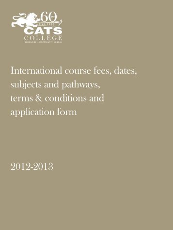 International course fees, dates, subjects and pathways, terms ...