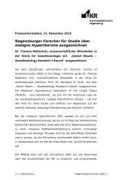 Dr. Thomas Metterlein für Studie über maligne Hyperthermie ...