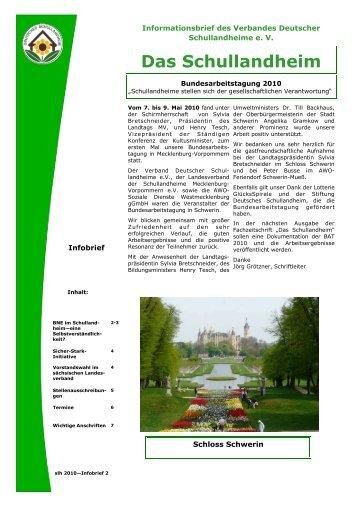 Das Schullandheim - Verband Deutscher Schullandheime eV