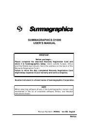 Summagraphics D1000 User's Manual - Summa Online