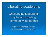 Liberating Leadership - Our Community