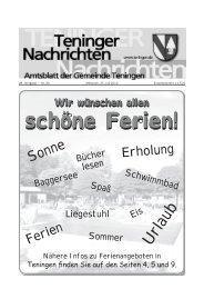 Wir wünschen allen schöne Ferien! - Gemeinde Teningen