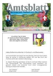 Liebe Erstkommunikanten in Durbach und Ebersweier,