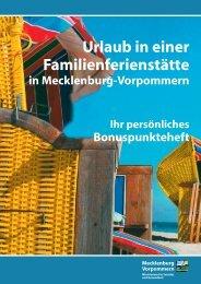 Urlaub in einer Familienferienstätte in Mecklenburg-Vorpommern Ihr ...