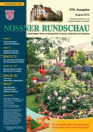 August 2012 - Nossner Rundschau
