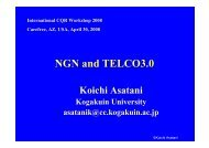 NGN and TELCO3.0 - IEEE CQR