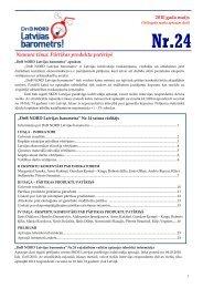 Numura tēma: Pārtikas produktu patēriņš - DNB