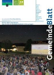Zeit für »Filme unter Sternen - Marktgemeinde Rankweil