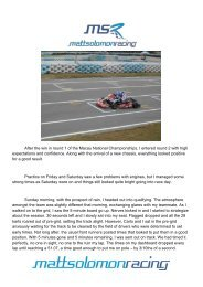 Matt Race Report Macau 2 - LDC