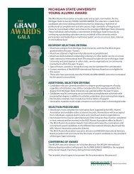 Nomination Form - MSU Alumni Association - Michigan State ...