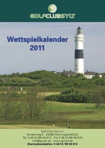 Wettspielkalender 36 S. neu 2011.indd - Golf-Club Sylt