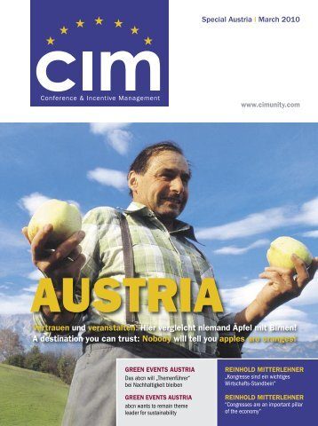 Vertrauen und veranstalten: Hier vergleicht niemand Äpfel mit - CIM