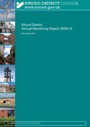 Annual Monitoring Report 2009-10 - Stroud District Council