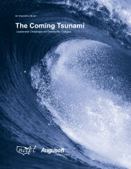 The Coming Tsunami - Augusoft