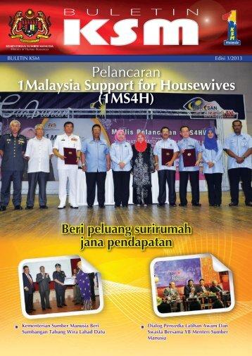 mohr bulletin vol 1 2013 - Kementerian Sumber Manusia