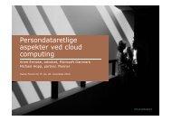Persondataretlige aspekter ved cloud computing