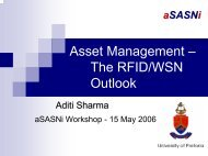 Asset Management – The RFID/WSN Outlook