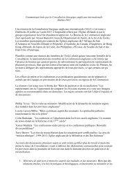 Communiqué émis par la Consultation liturgique anglicane ...