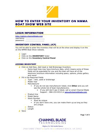 Easy to follow instructions - Nmma