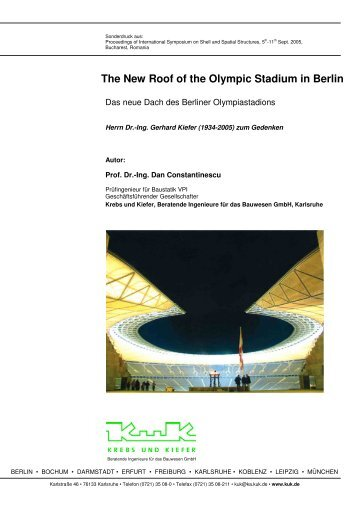 The New Roof of the Olympic Stadium in Berlin - Krebs und Kiefer ...