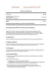 Benutzungsordnung der Bibliothek - Weißensee Kunsthochschule ...
