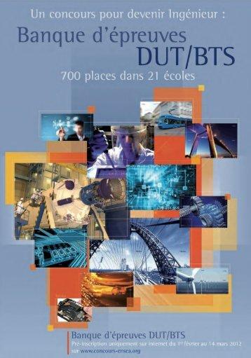 Banque d'épreuves DUT/BTS - Concours ENSEA