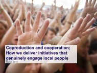 Coproduction and cooperation; How we deliver ... - Keep Britain Tidy