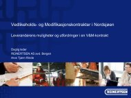 Vedlikeholds- og Modifikasjonskontrakter i Nordsjøen