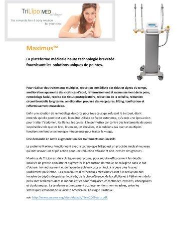 Maximus™ par TriLipo™ Dossier de presse - Les Professions ...