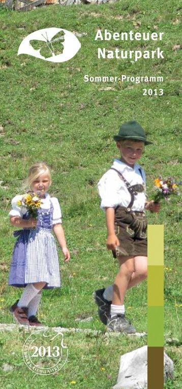 Sommerprogramm 2013 - Naturpark Weißbach