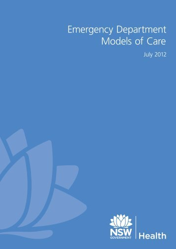 Emergency Department Models of Care 2012 - NSW Health