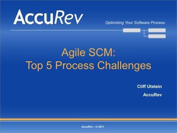 Optimizing Your Software Process - AccuRev
