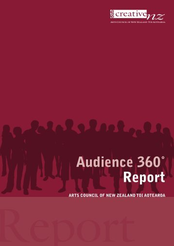 Audience 360º Report 2010 - Creative New Zealand