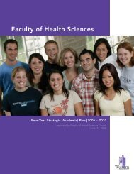 Faculty of Health Sciences - University of Western Ontario