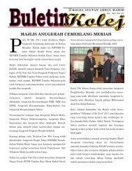 Buletin Kolej Bulan Mac-Mei 2011 - Jabatan Pelajaran Negeri Kedah