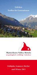 2013 & 2014 auf einem Blick - Matterhorn Valley Hotels