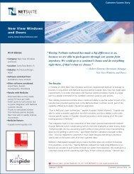 New View Windows and Doors - NetSuite