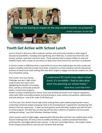 Youth get active with school lunch success story (Viroqua)