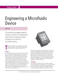 Engineering a Microfluidic Device - Technology