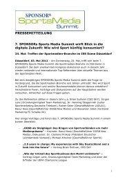 Download Pressemitteilung - SPONSORs Sports Media Summit